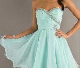 Custom Made Sweetheart Neck Short Prom Dresses, Chiffon Homecoming Dress,Short Mini Dresses for party/cocktail/homecoming