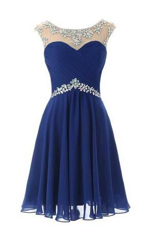 Short Prom dresses, Homecoming Dresses, Short Prom Dress, Short Prom Gowns, Blue Homecoming Dresses, Knee Length Homecoming Dresses