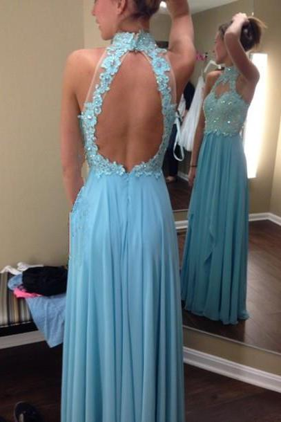 Open Back Prom Dresses, Halter Neckline Prom Dresses, Open Back Prom Dress, Halter Neckline Prom Dress, Halter Neckline Evening Dresses