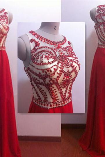 Prom Dress, O Neck Diamond Prom Dresses, Red Prom Dresses, O-Neck Diamond Prom Dress, Diamond Prom Dress, O-Neck Diamond Evening Dresses