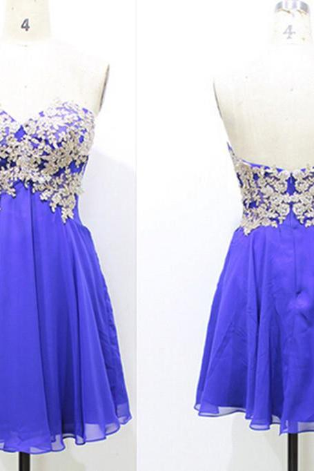 Short Lace Prom Dresses, Lace Homecoming Dresses,Lace Prom Dresses