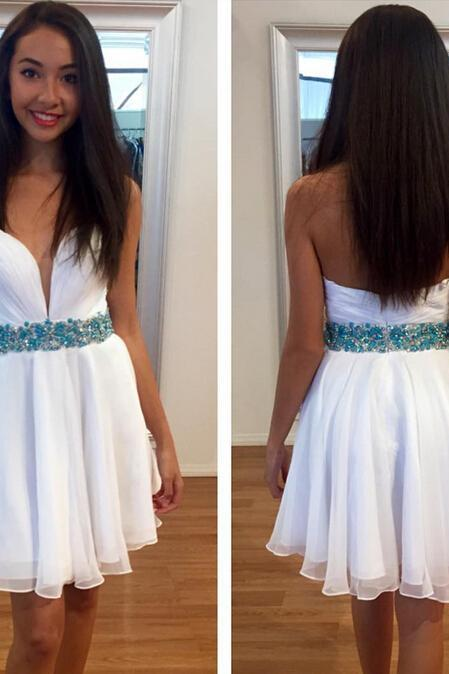 white prom dress, homecoming dresses, cheap prom dress, prom dress for girls