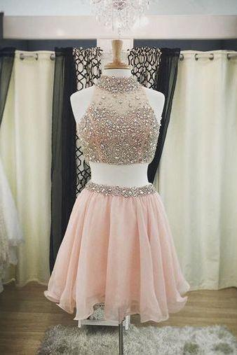 Custom Two-piece Homecoming Dress,Sweet Homecoming Dress,Lovely Dress,Homecoming Dresses
