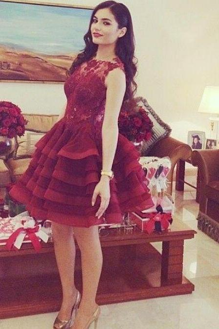 Red Homecoming Dress,Homecoming Dresses,Cocktail Party Dress,Homecoming Dresses