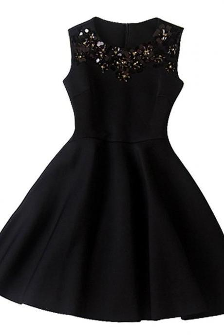Gorgeous Homecoming Dress,A-Line Sleeveless Homecoming Dress, Gorgeous With Sequins
